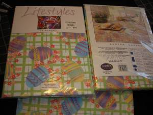 "Used, Marshall Field TABLECLOTHS -EASTER- 60""x102 "" - 3 available - 2 new (Elk River) for sale"