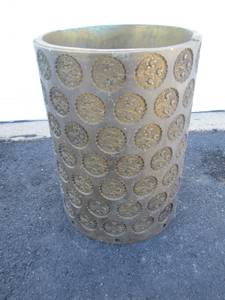 Large Antique Industrial Nabisco Solid Brass Cookie Roller 175lbs+ (Morrisville Pa) for sale