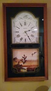 Wall or Mantel Clock with Ducks (Maineville), used for sale