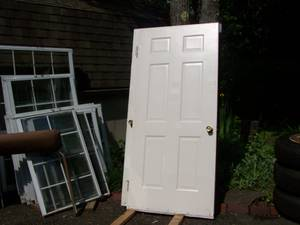 METAL ENTRANCE DOORS-GOOD USED CONDITION (W.  WINDSOR, N.Y.) for sale