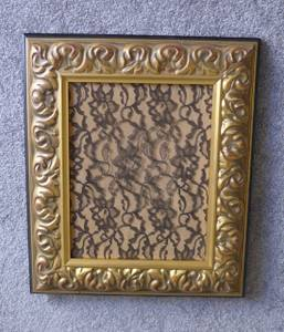 Jewelry  Earrings Display or Gold Frame or Framed Lace (West LA, 90025), used for sale