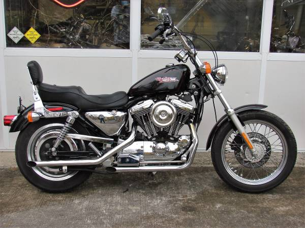 2001 harley davidson xl 1200 sportster custom (black) bike runs...
