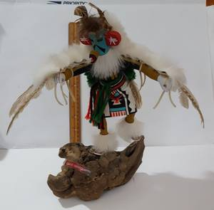 "Kachina Eagle Dancer Figurine Doll 12"" Tall 16"" Wing Span (East Side) for sale  Phoenix"