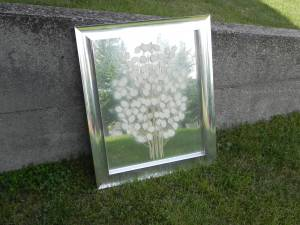 Academy Arts Metal Framed Mod Art Dual layer mirror (Wyoming), used for sale