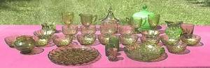 Set your table with Forest Green-dishes,vases,bowls,cups,plates (NORTH BRANCH) for sale