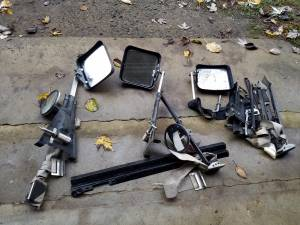 Set Camper Trailer Tow Mirror Package plus Misc. Parts -All for (Oilville Exit), used for sale