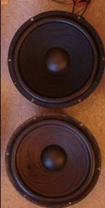 1 pair 15 inch 8 ohm raw frame woofers for home stereo. $99 pr (las cruces) $99