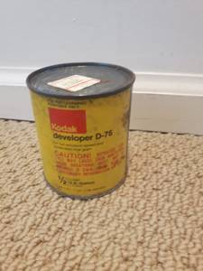 Old Vintage KODAK developer D-76 tin can (not opened) (Vancouver - Cambie Village) for sale  Seattle