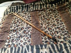 Vintage Brass Duck Head Wood Cane Walking Stick (Rockland County) for sale