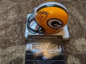 Used, Aaron Rodgers Autograph Mini-Helmet w/COA (Coon Valley) for sale