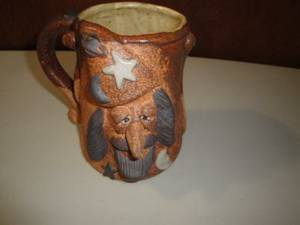 Art Pottery Wizard Fantasy Mug Large Hand Crafted (hadley) for sale  Boston