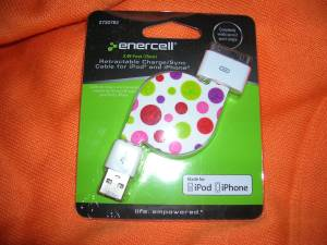 Enercell Retractable iPhone iPod iPad Charger x5 for sale
