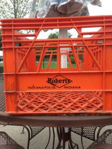 Antique Milk Crate, Roberts, Dairy< Plastic Vintage bottle Crate (Greenwood, IN) for sale