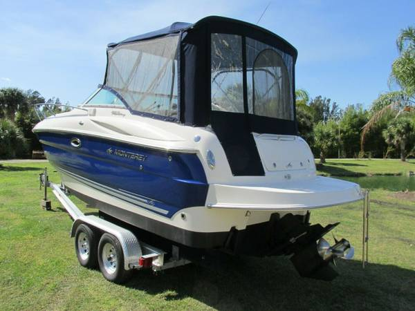Sleeps four in our cruiser boat o6 monterey 250 / loaded/ low hours...
