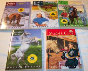 Five books from The Saddle Club series (Campion/S. Loveland) for sale