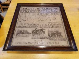 Early American Sampler dating 1830 (Beverly) for sale  Boston