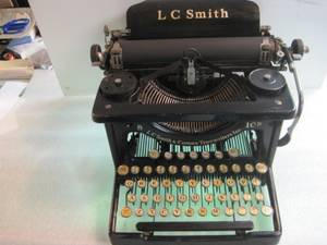 Vintage L C Smith Desktop Office Typewriter from the 1920's (2), used for sale