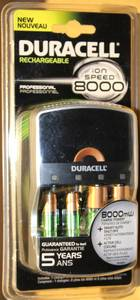 Duracell Ion Speed 8000 Pro Battery Charger AA AAA NiMH Rechargeable (Akron) for sale