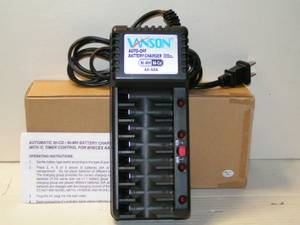 Automatic NiMH NiCD 8 Bay AA AAA Battery Charger - V868 NEW (Lawrence) for sale  Boston