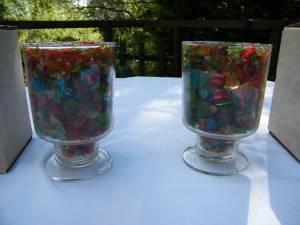 L.E. Smith Glass Mt Pleasant Set of 2 Gala Romance Lights NEW in Boxes (Ligonier) for sale