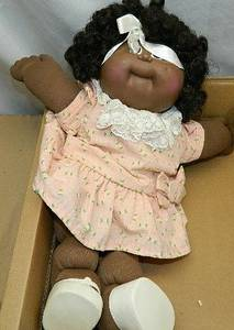 1980's Cabbage Patch Kids African American black girl doll-black hair (NORTH BRANCH) for sale