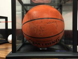 Dr J Julius Erving signed NBA basketball PSA coa (Pomona) for sale
