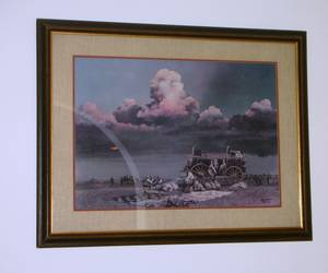 BILL JAXON- TWO DAYS FROM THE RED- SIGNED LITHOGRAPH FRAMED -COA (Indian Land) for sale