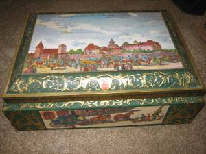 Used, E. Otto Schmidt German Tin Box - large (San Marcos) for sale