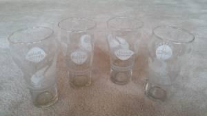 Vintage Coca Cola Dairy Queen Santa Claus Promotional Souvenir Glasses (coquitlam center) for sale  Seattle
