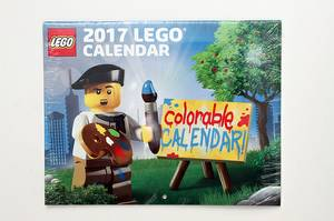 Lego 2017 Colorable Wall Calendar (Coquitlam), used for sale
