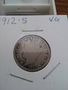 Used, 1912s Liberty (V) Nickel *KEY COIN* (N Olmsted) for sale