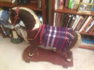 Horse Hair and Hide Rocking Horse Pull Toy (Kingstowne Alexandria) for sale