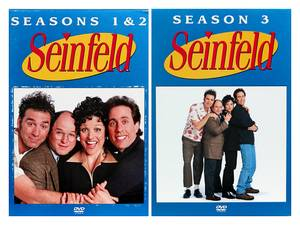 Seinfeld DVD 4-Disc Box Sets - Seasons 1 & 2 and Season 3 (Southwest Reno) $22