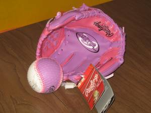 Kids Right-hand Baseball T-ball Glove & Training Ball - NEW (sunset / parkside), used for sale  San Francisco
