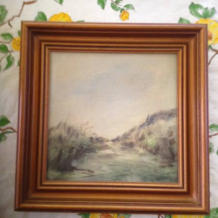 Wildlife oil on canvas signed - furniture - by owner - sale
