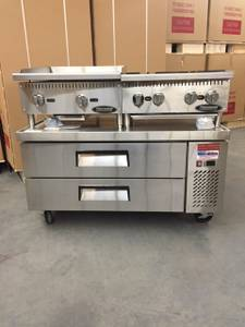 Chef base refrigerated grill table RESTAURANT EQUIPMENT (FREE DELIVERY) for sale  Boston