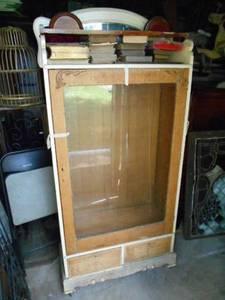 Victorian Oak Bookcase w/Mirrored Shelf Backed (Pennington,N.J.08534) for sale