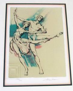ADAGIO- BALLET-JIM JONSON LITHOGRAPH FRAMED -COA (Indian Land) for sale