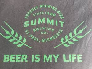 BRAND NEW SUMMIT LOGO AND BEER IS MY LIFE XL T-SHIRTS (BURNSVILLE) for sale