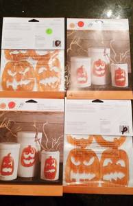 Halloween  Jack-o-lantern Window Clings -Martha Stewart- New in Packag (Naperville) for sale