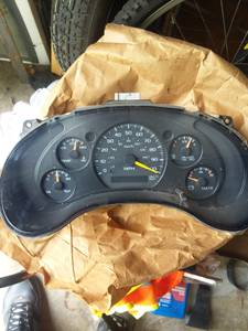 Chevy S10  Instrument Cluster, Dashboard gauges, fits other GM-REDuced (minooka/channahon IL) for sale