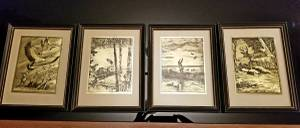 4 Matching Collectible Pictures - Perfect for Cabin (Twin Cities) for sale