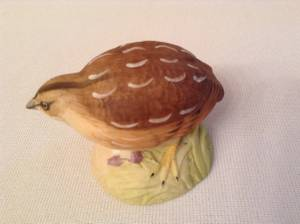 Aynsley England Fine Porcelain Quail Figurine Wild Bird Series (Burnaby) for sale  Vancouver