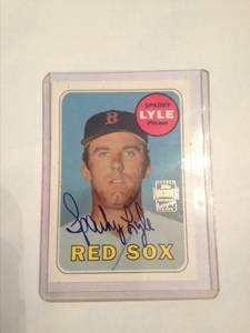 Autographed Red Sox Baseball Card (Sacramento, Ca) for sale