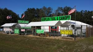 Used, CANOPY / CANOPIES / TARPS / PIPE / FITTINGS / TOOLS (LEESBURG) for sale