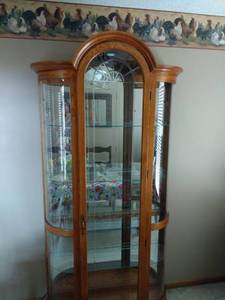 Curios/Curved Glass China Cabinets for your Collectibles (Independence) for sale