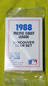 1988 Pacific Coast League Baseball Cards Vancouver Team NEW Sealed (Tacoma) for sale  Seattle