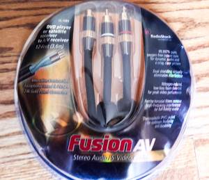 Stereo RCA Audio S-Video cable 6' (Fusion AV) (calumet city) for sale