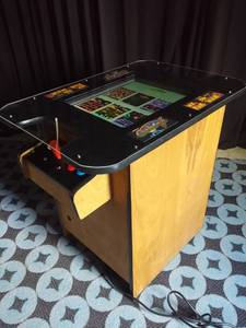 MS PAC-MAN GALAGA COCKTAIL TABLE VIDEO ARCADE GAME, CAN DELIVER (Windham, ME) for sale