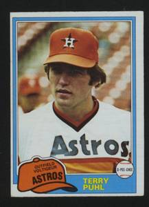 1980s Houston Astros Players Terry Puhl (Central Ottawa) for sale